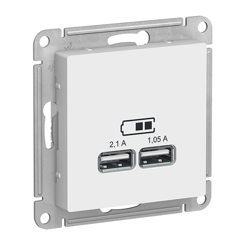 PRIZA DUBLA USB 5V 2.1A/1.05A ALBA ATLAS