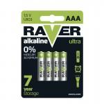 Baterii RAVER ALKALINE LR03 AAA (4BUC/BLISTER) EMOS