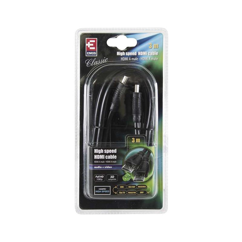 CABLU HDMI+ETHERNET A/M-A/M 3M SB0103 EMOS