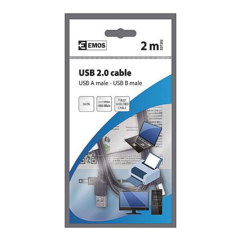CABLU USB 2.0 A/M-B/M 2M SD7202 EMOS