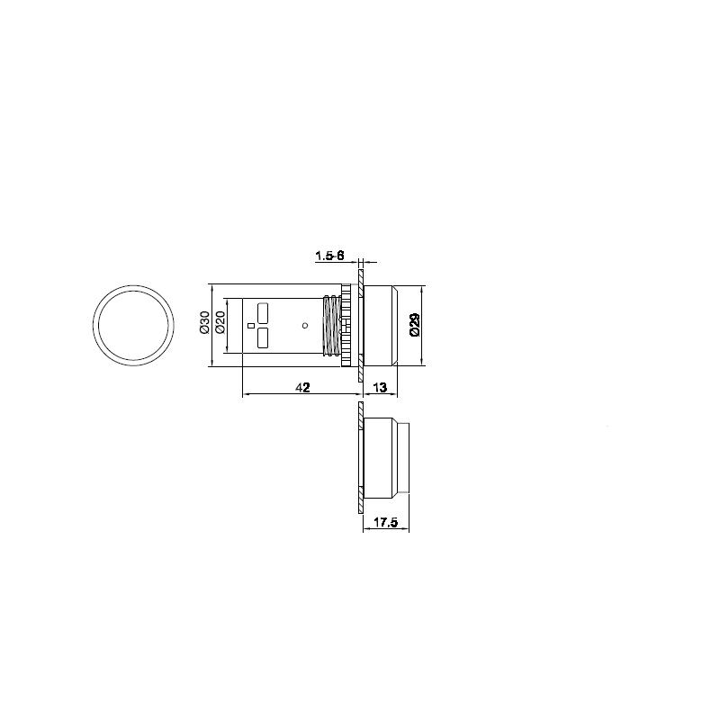 BUTON ACTIONARE CP1-11R-01 1NC CU LED ROSU ABB