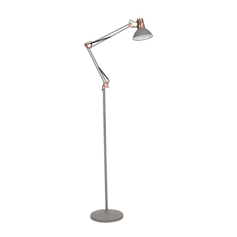 LAMPA DE PODEA GARETH E27 40W 280X1715MM GRI RABAL...