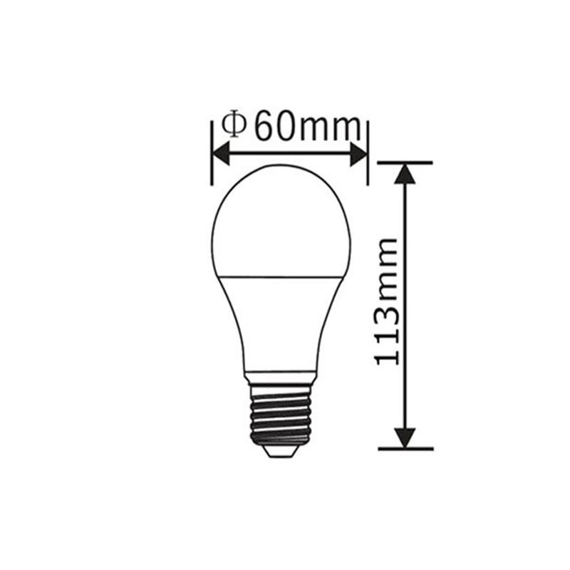 BEC LED 15W 1350LM E27 A60 6500K 220-240V BRAYTRON