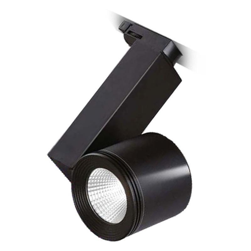SPOT LED SHOPLINE-A 30W 2600LM 3000K 220-240V NEGR...