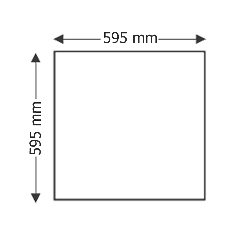 LED DIRECT PANEL INT. 48W 4320lm 740 4000K 595X595MM FUCIDA