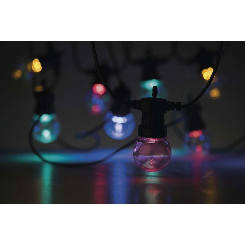 GHIRLANDA PARTY BULB LED MULTICOLOR IP44 5M EMOS
