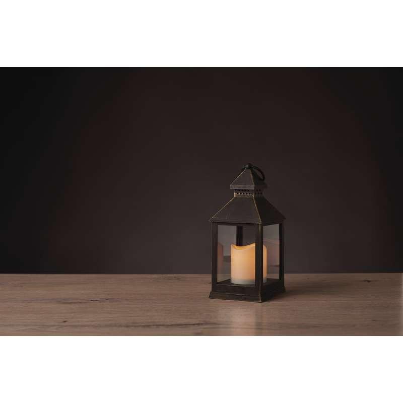 DECORATIUNE DE CRACIUN LED LAMPĂ CU TIMER 10.5x24cm 3xAAA NEAGRA EMOS