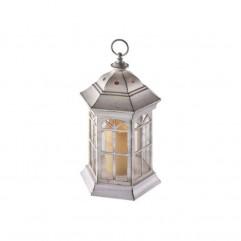 DECORATIUNE DE CRACIUN LED LAMPĂ CU TIMER 20x37cm 3xAAA ALBA EMOS