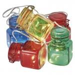 GLASS NANO PE FIR 18LED 3XAA 1.5M 6 CULORI ALB CALD EMOS