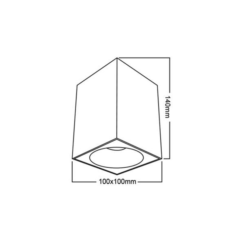 SPOT BETA-SS GU10 220-240VAC IP20 PATRAT Alb BRAYTRON