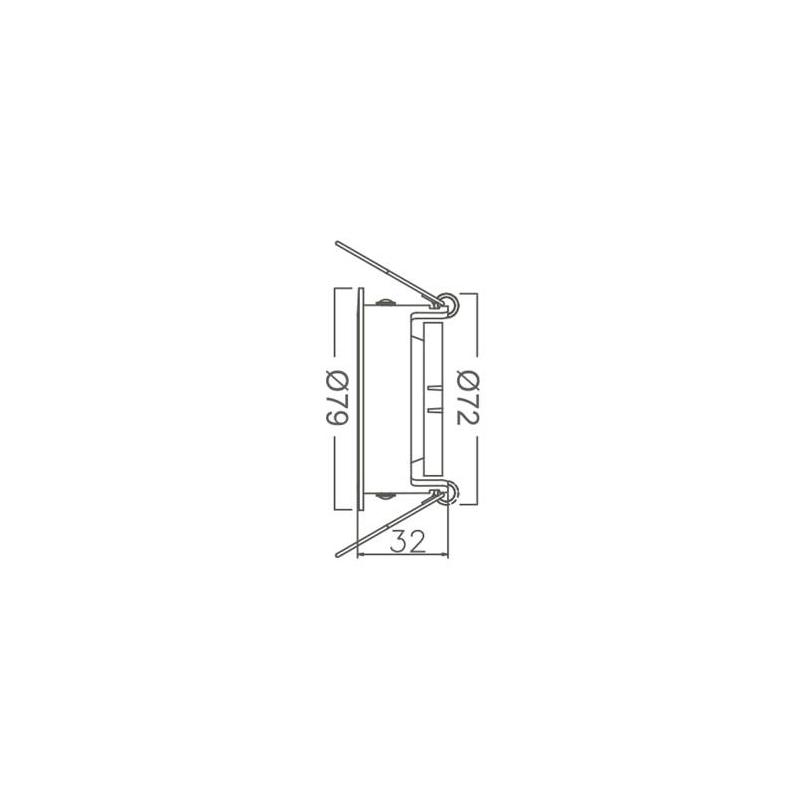 SPOT BETA-RR1 RND 220-240VAC IP20 Alb+Negru BRAYTRON
