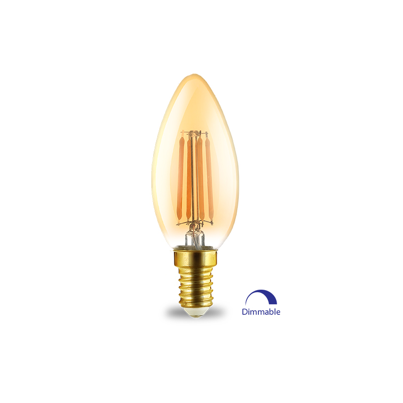 BEC LED FILAMENT 4W E14 C35 2200K AMB 360LM BRAYTRON
