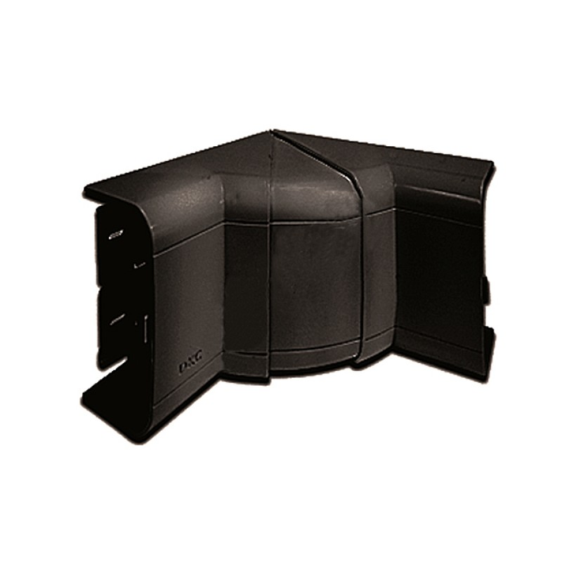 COT CANAL CABLU INT. 70-120° IN-LINER FRONT 110X50MM NEGRU DKC