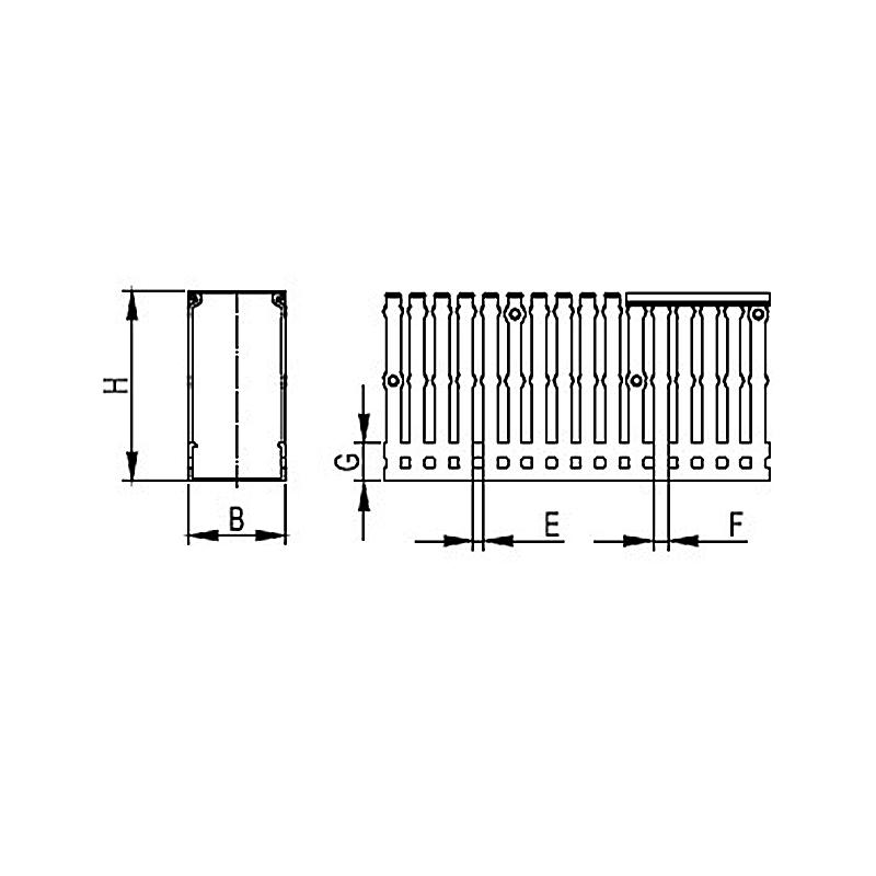 CANAL CABLU PERFORAT RL6 40X40X2000MM GRI DKC