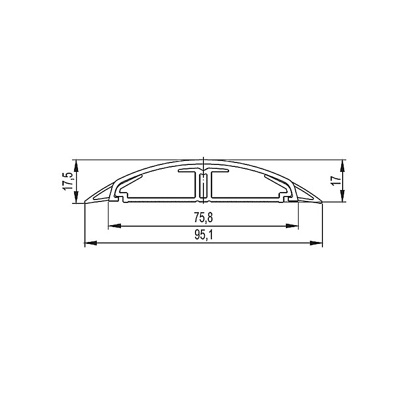 CANAL CABLU PARDOSEALA CSP-F 50X12X2000MM GRI DKC