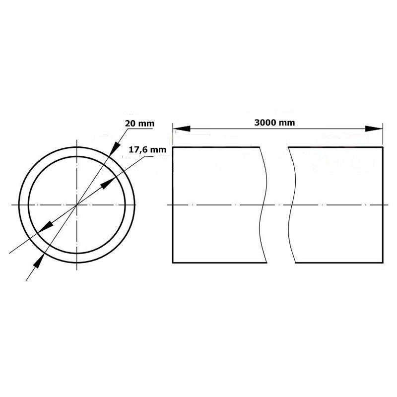 TEAVA PENTRU CABLU PVC CLASS 4 320N D20 3M DKC