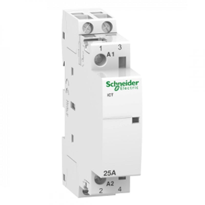 CONTACTOR iCT 25A 230-240V 2P 2ND SCHNEIDER