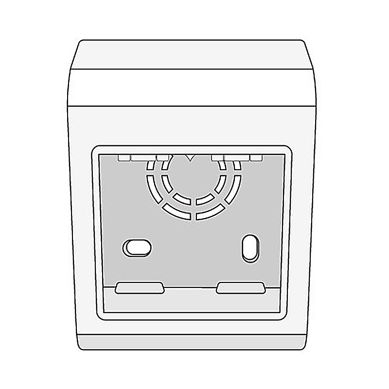 CUTIE MONTAJ EXT. PDB BRAVA 2 MODULE 45X45MM DKC