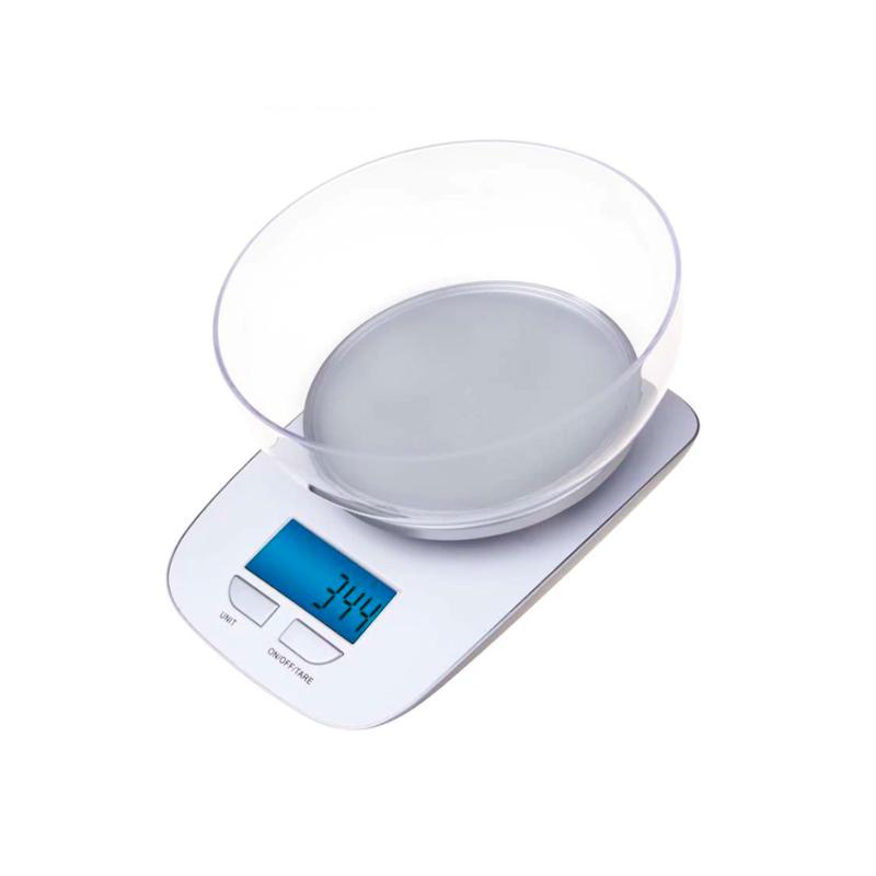 CÂNTAR DE BUCĂTĂRIE 5kg 2xAAA ABS-PLASTIC GP-KS021 EV016 ALB EMOS