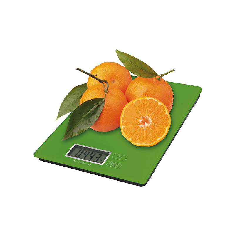 CÂNTAR DE BUCĂTĂRIE 5kg CR2032 STICLĂ EV014G VERDE EMOS