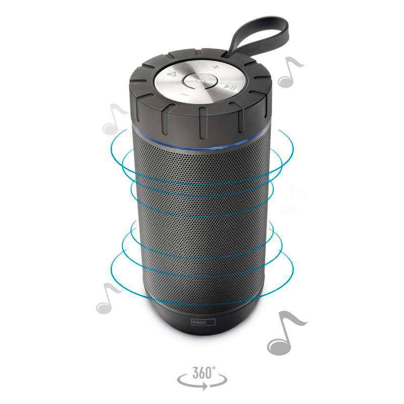 Boxă Portabilă FREESTYLER 3.7 V/4400mAh4 Ohm/2X6 W GRI EMOS