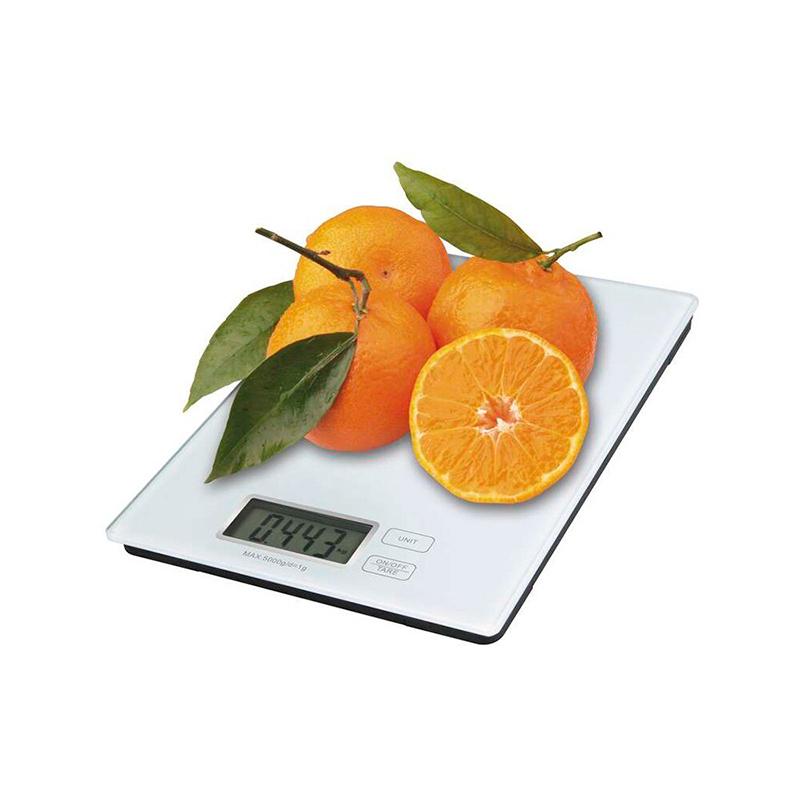 CÂNTAR DE BUCĂTĂRIE 5kg CR2032 STICLĂ EV014 ALB EMOS