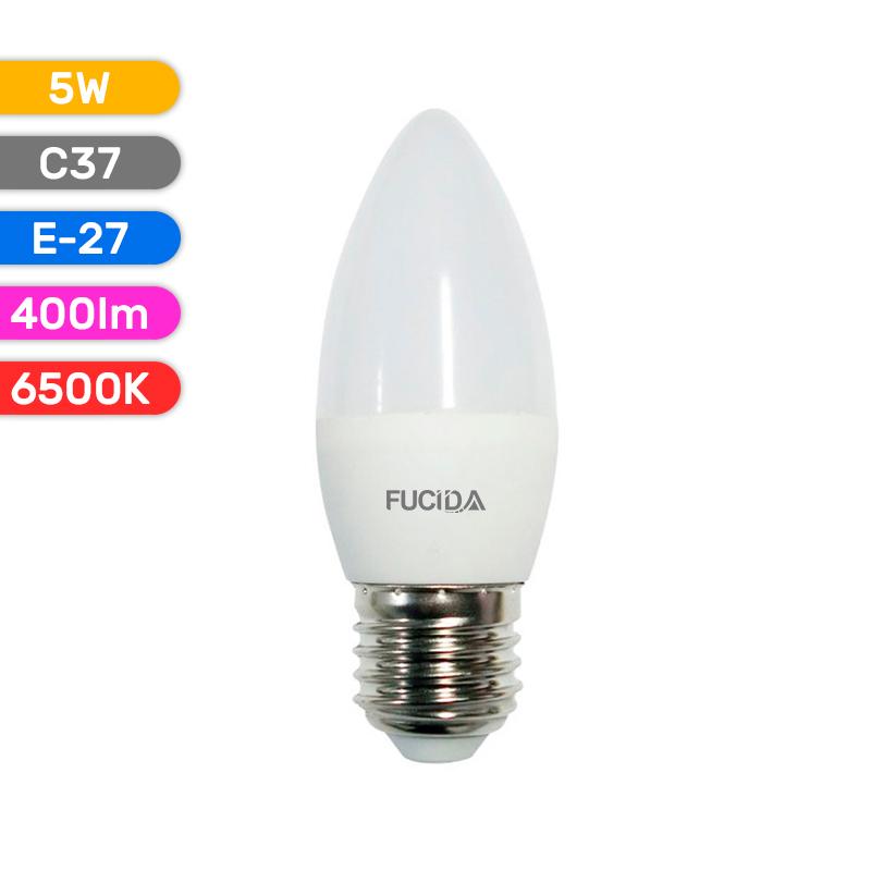 BEC LED C37 5W 400LM 865 6500K E27 FUCIDA