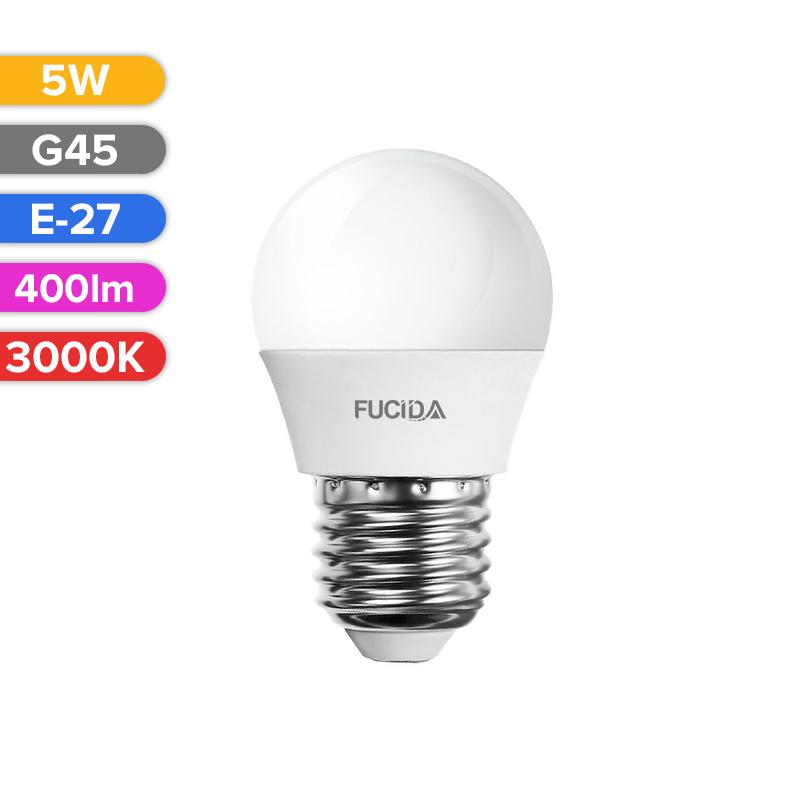 BEC LED G45 5W 400LM 830 3000K E27 FUCIDA