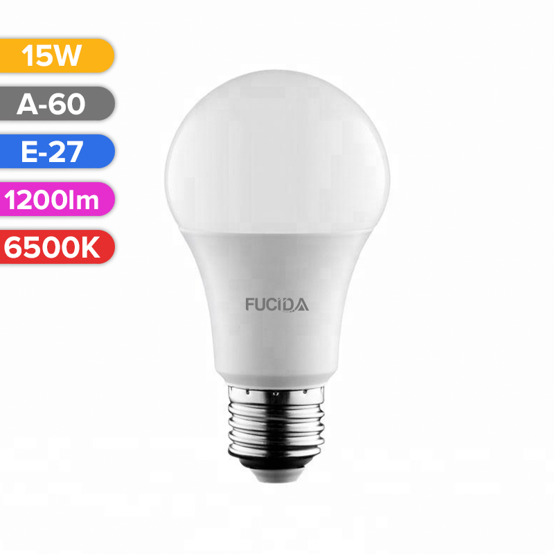 BEC LED A60 15W 1200LM 865 6500K E27 FUCIDA