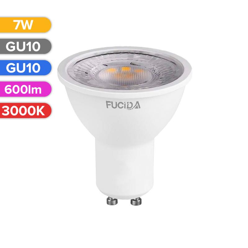 BEC LED SPOT 7W 600LM 830 3000K GU10 FUCIDA