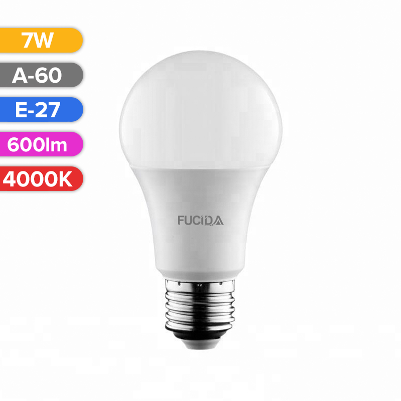 BEC LED A60 7W 600LM 840 4000K E27 FUCIDA