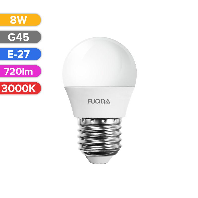 BEC LED G45 8W 720LM 830 3000K E27 FUCIDA