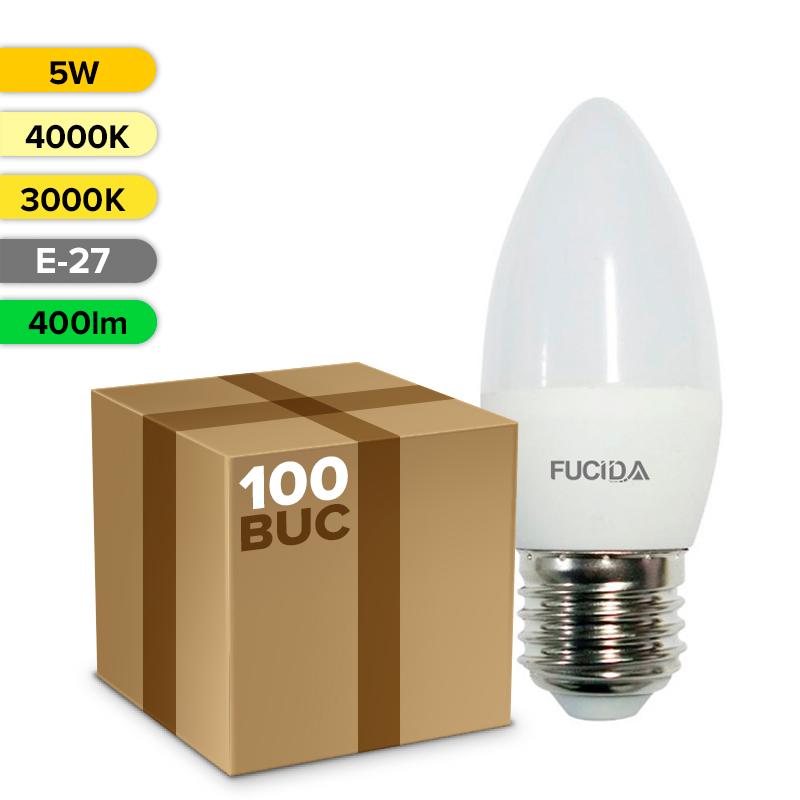 BEC LED C37 5W 400LM E27 FUCIDA ANGRO