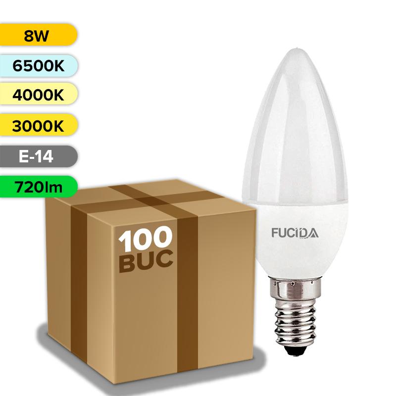 BEC LED C37 8W 720LM E14 FUCIDA ANGRO