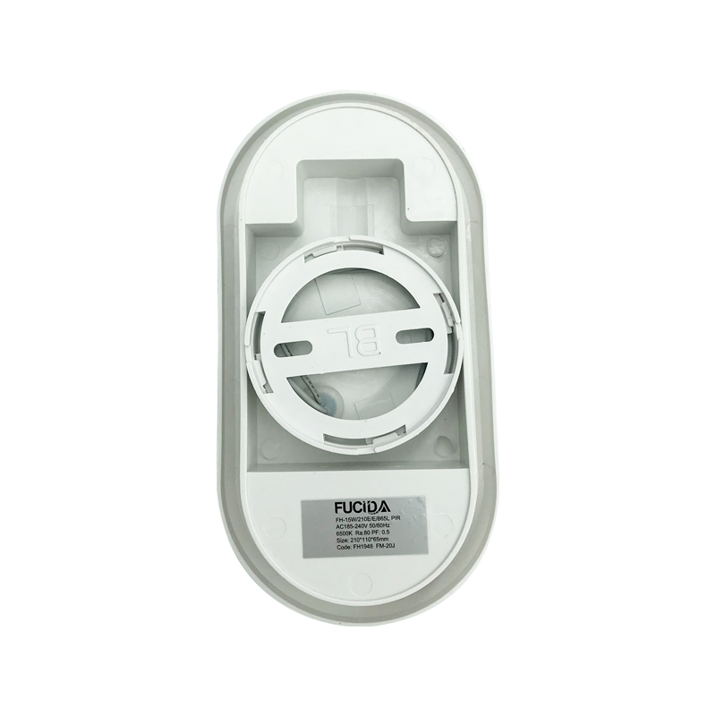 APLICA LED OVAL PIR SENZOR 15W 6500K 210X110mm IP54 FUCIDA