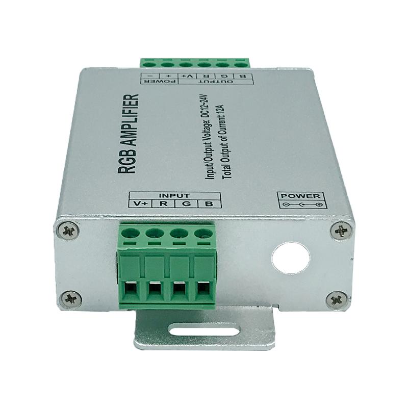 AMPLIFICATOR LED RGB INPUT-12V/24VDC OUT-144W 12A FUCIDA