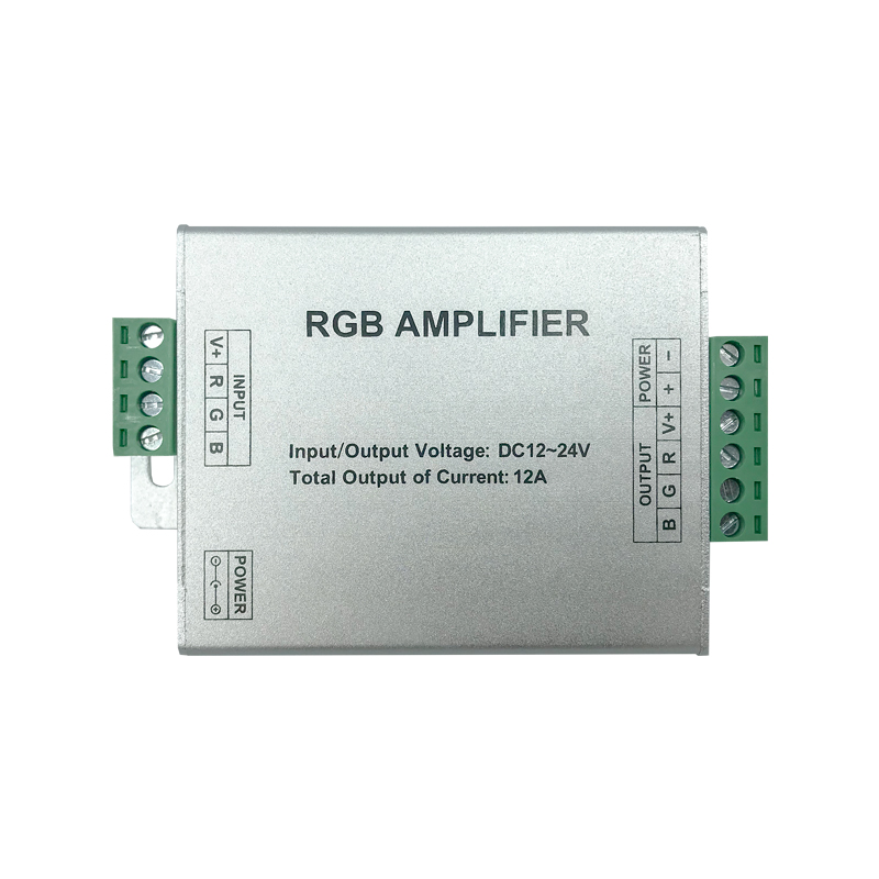 AMPLIFICATOR LED RGB INPUT-12V/24VDC OUT-144W 12A ...