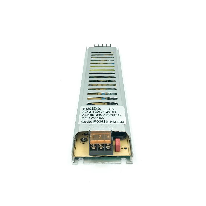 DRIVER BANDA LED SLIM 18mm 120W 10A 12VDC FUCIDA