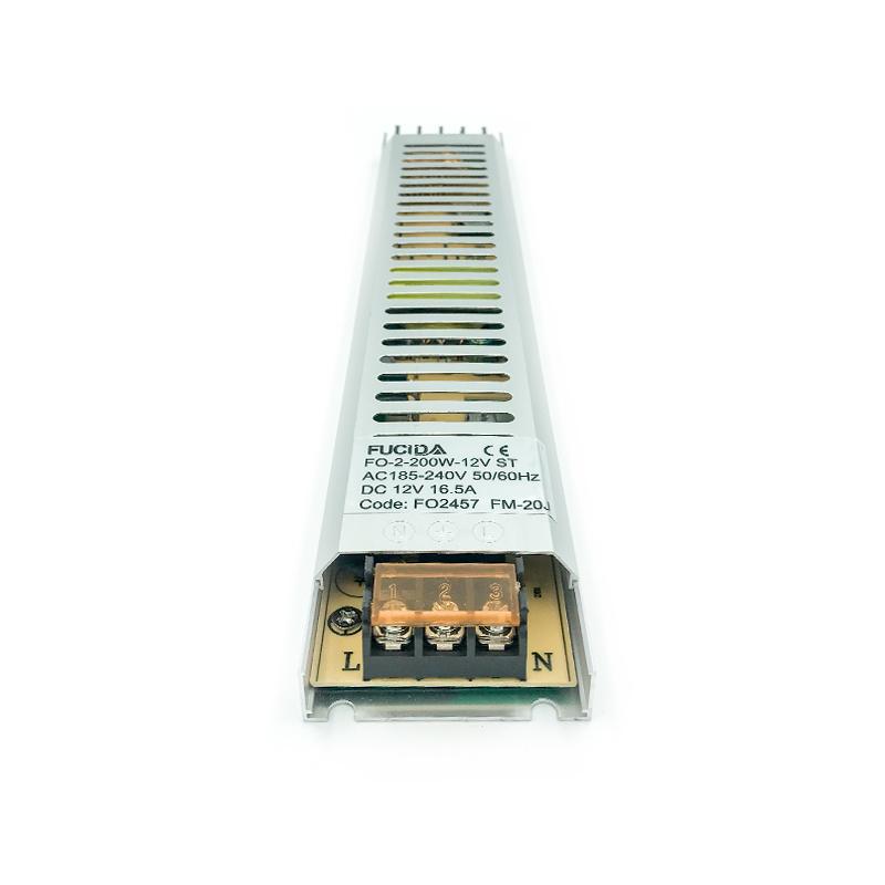 DRIVER BANDA LED SLIM 18MM 200W 16.5A 12VDC FUCIDA