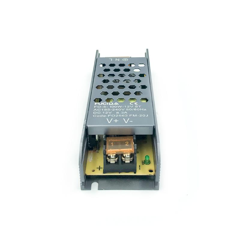 DRIVER BANDA LED BLACK 29MM 100W 8.3A 12VDC FUCIDA