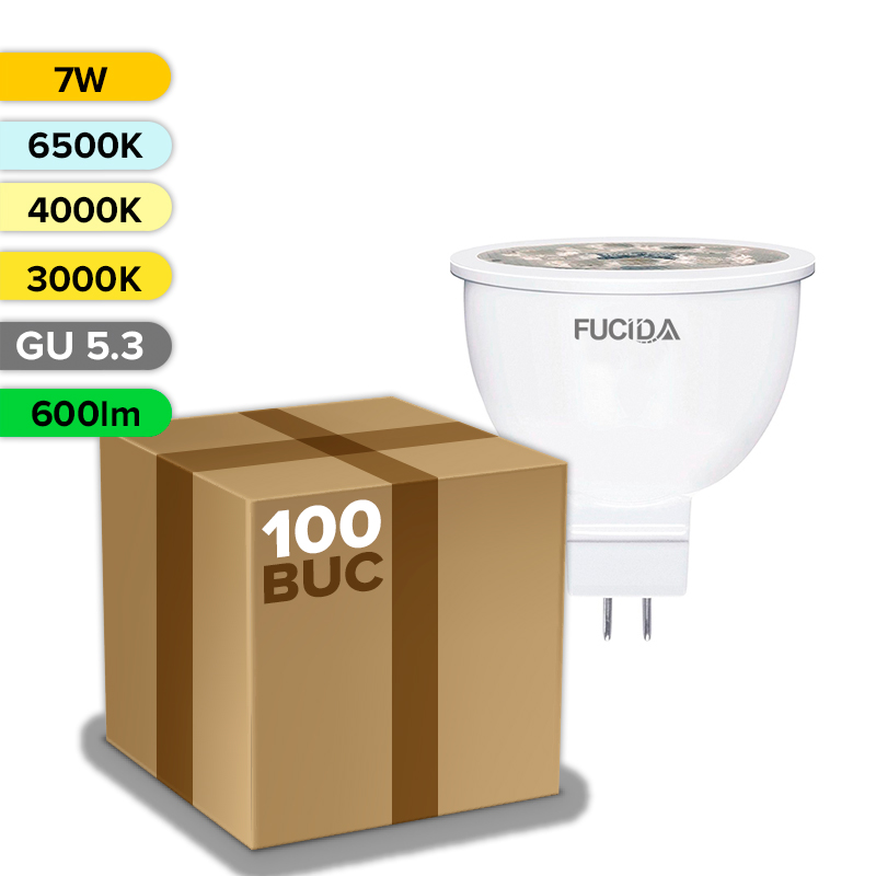 BEC LED GU 5.3 7W 600LM  FUCIDA ANGRO