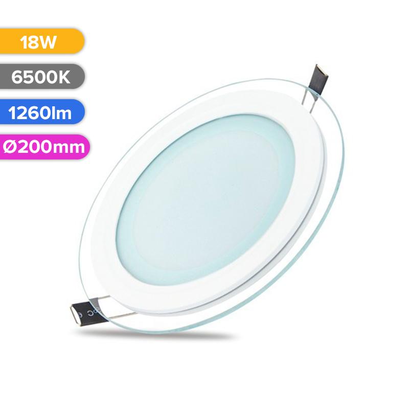 SPOT LED STICLA 18W 1260LM 765 6500K D200MM FUCIDA