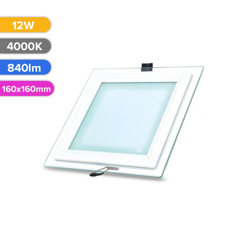 SPOT LED STICLA 12W 840LM 740 4000K 160X160MM FUCIDA