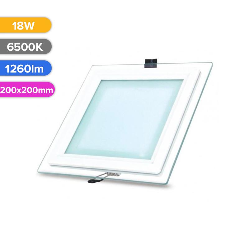 SPOT LED STICLA 18W 1260LM 765 6500K 200X200MM FUCIDA