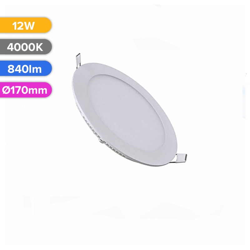 SPOT LED SLIM 12W 840LM 740 4000K D170MM FUCIDA