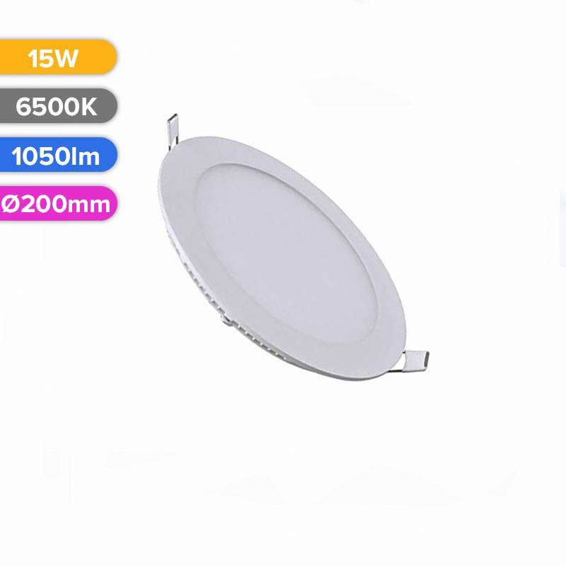 SPOT LED SLIM 15W 1050LM 765 6500K D200MM FUCIDA