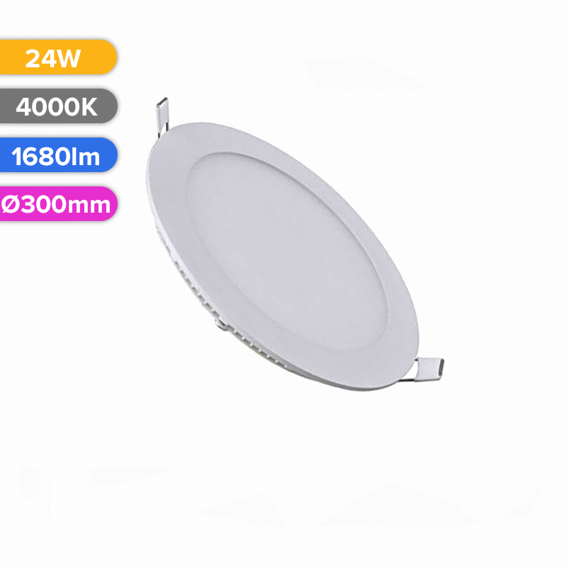 SPOT LED SLIM 24W 1680LM 740 4000K D300MM FUCIDA