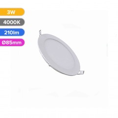 SPOT LED SLIM 3W 210LM 740 4000K D85MM FUCIDA