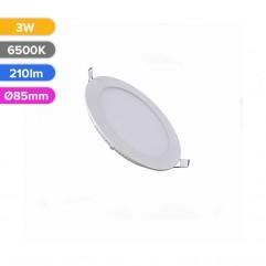 SPOT LED SLIM 3W 210LM 765 6500K D85MM FUCIDA