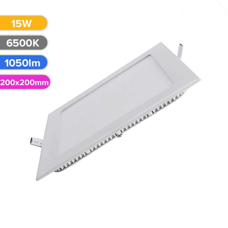 SPOT LED SLIM 15W 1050LM 765 6500K 200X200MM FUCIDA